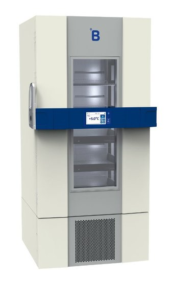 B Medical P700 medicijn / laboratorium koelkast DIN 58345 met glasdeur